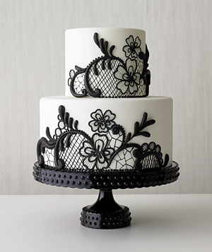 Wedding Cake Black And White